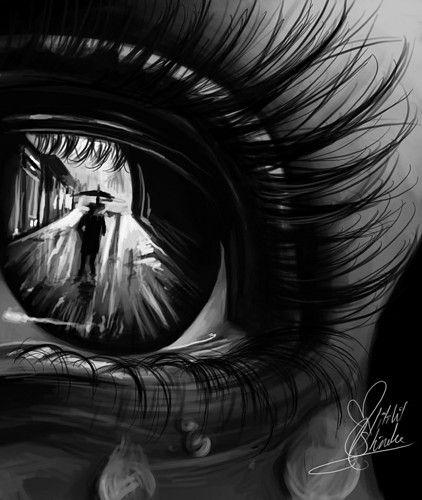eye reflection drawing blackwhiteeyephotography