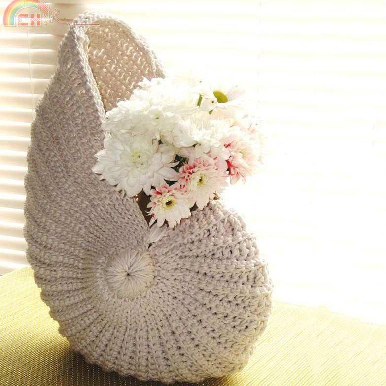 Nautilus shell crochet basket | Crochety Thingies | Pinterest ...