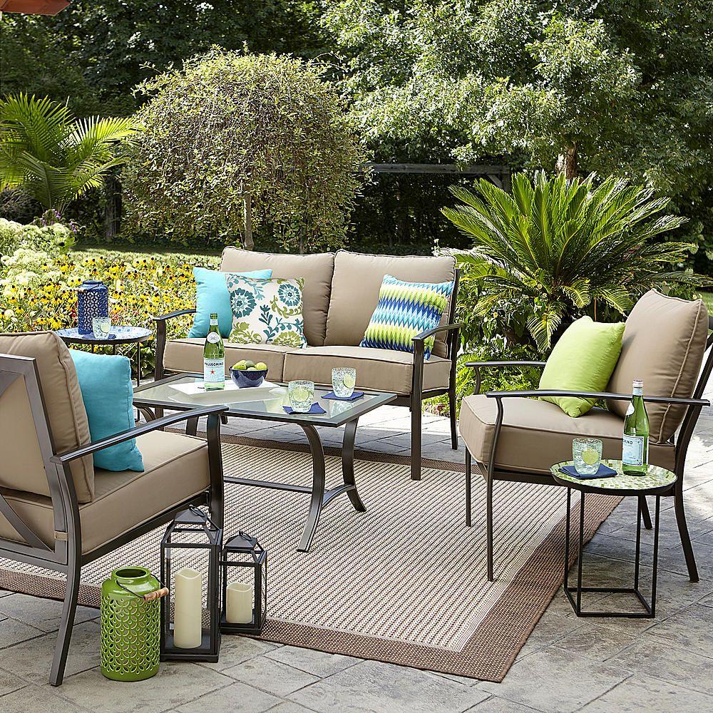 Garden Oasis Harrison 8 Piece Cushion Seating Set - Tan - Outdoor