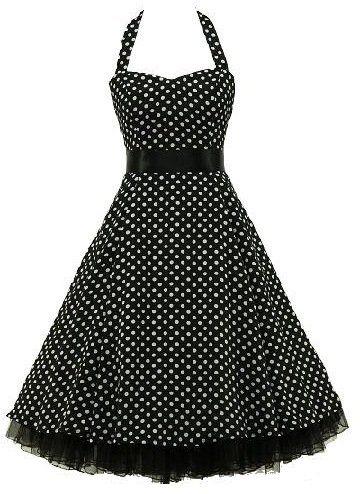 cf955f39772174 Rockabilly polka dot dress black petticoat   Cute dresses ...