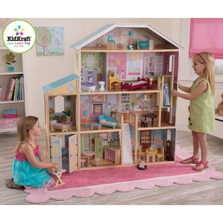 Kidkraft Majestic Mansion Wooden Dollhouse With 33 Pieces Of
