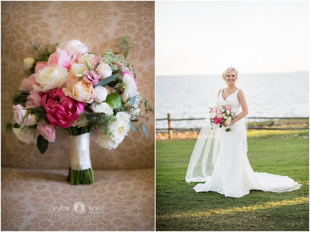 Bridal bouquet  |  Bridal portraits  |  Wedding veil  |  Lace wedding gown  |  Aislinn Kate Photography