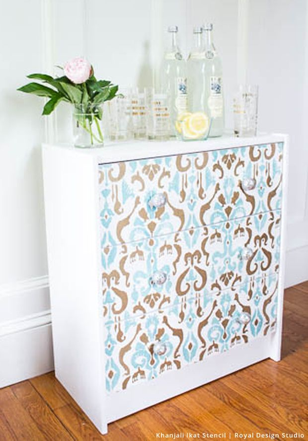 Khanjali ikat stencil muebles aparadores pintados y - Royal design muebles ...