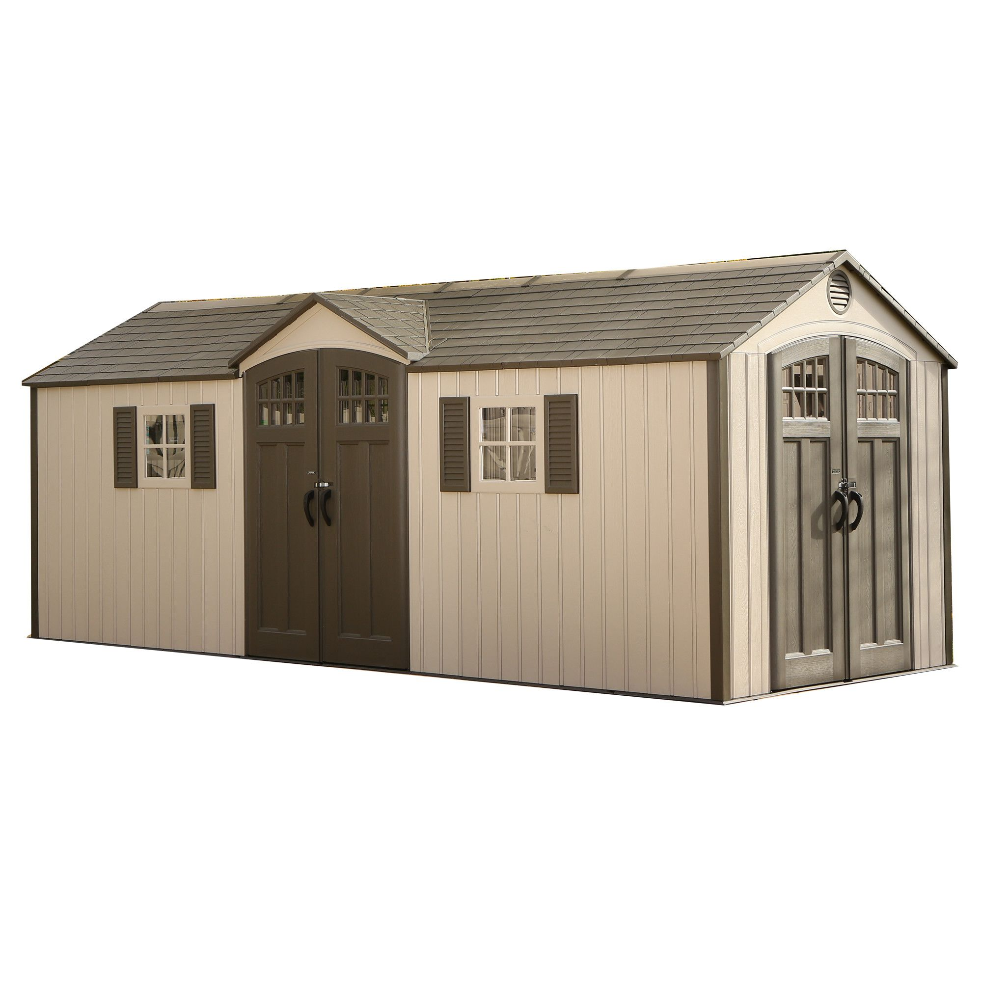 Add A Great Looking Lifetime Building To Your Backyard With This Lifetime Plastic  Storage Shed.
