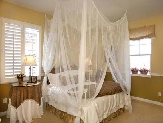 Ideas para tener un dosel en el dormitorio DIY | habitación rústica ...