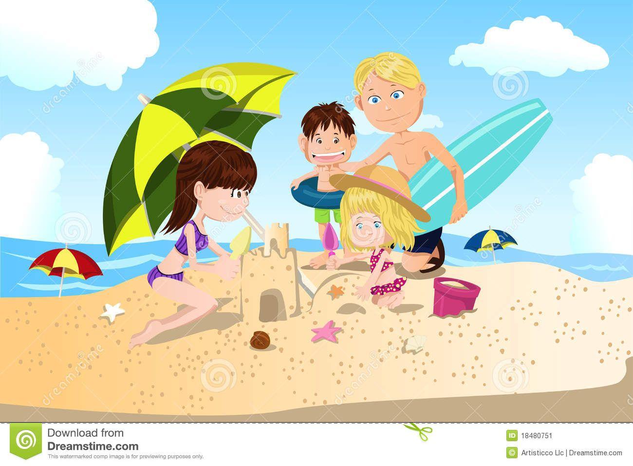 vacaciones-de-familia-de-la-playa-18480751.jpg (1300×957)
