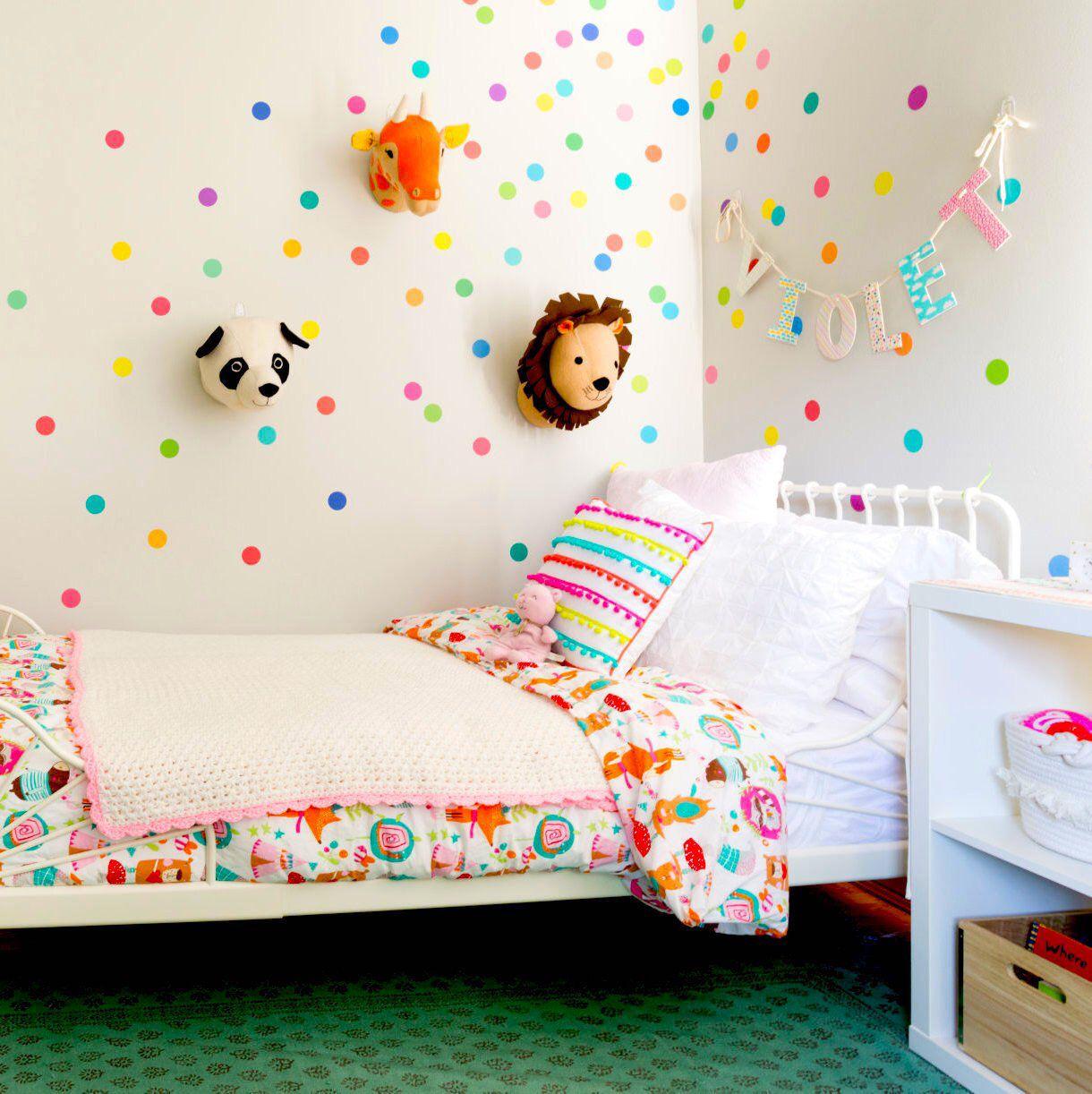 Best Fabric Wall Decals 121 Mini Rainbow Dots Confetti Polka 400 x 300