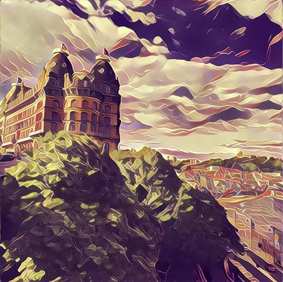 Painting - Grand Hotel Scarborough Retro Vintage Style by Esoterica Art Agency #affiliate , #ad, #SPONSORED, #Scarborough, #Painting, #Grand, #Retro