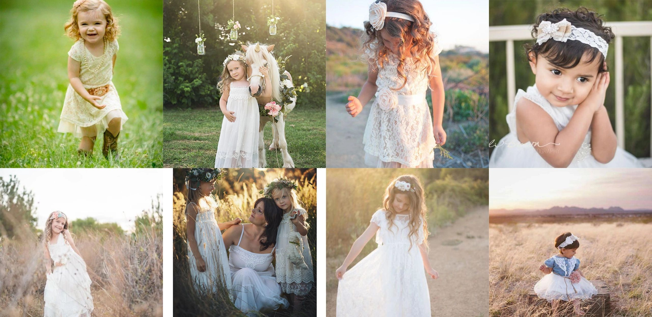 Boho flower girl dress lace flower girl dress lace baby dress