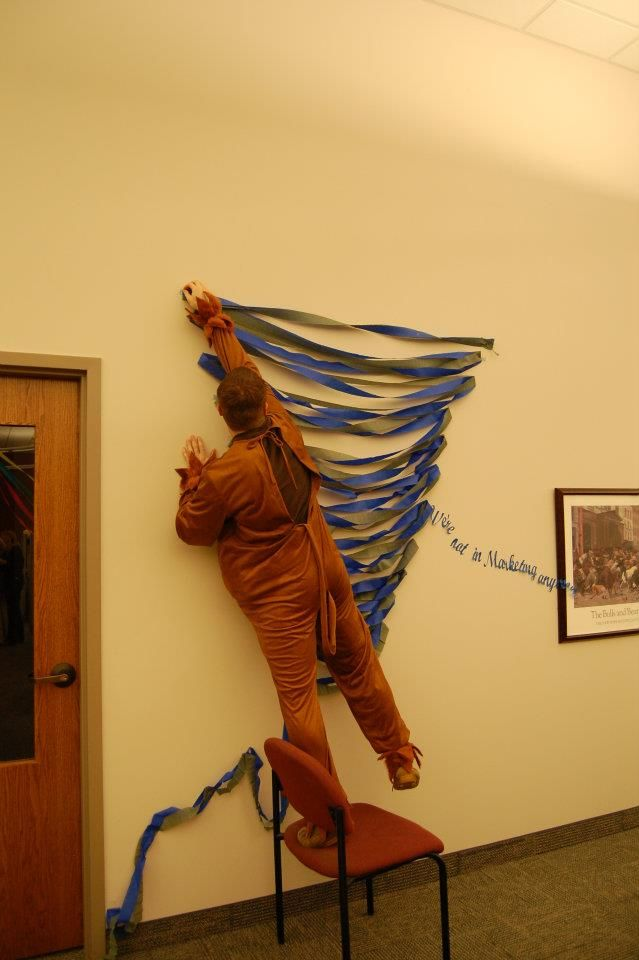 This is probably the easiest way to make a tornado for the Wizard of - halloween decorations for the office