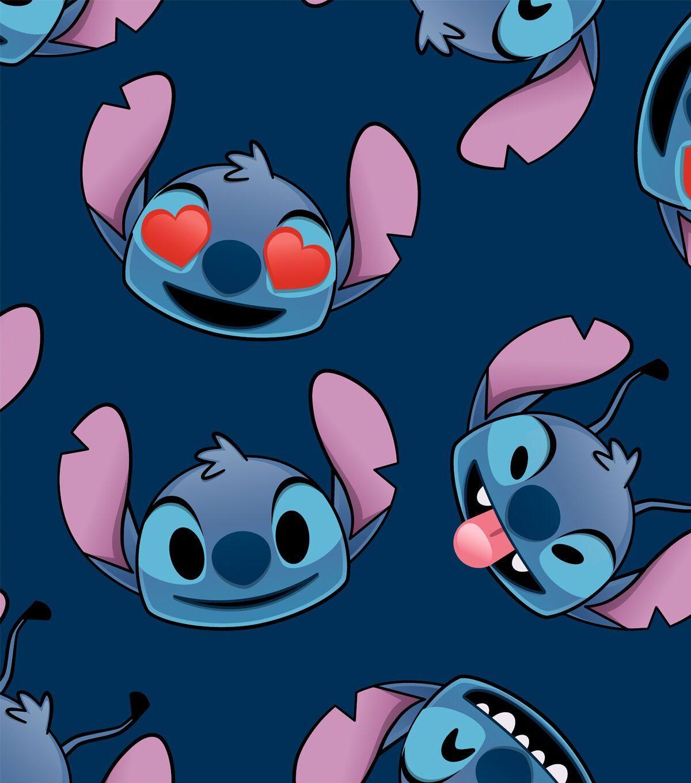 Disney Lilo & Stitch Fleece Fabric Stitch Emoji Faces | JOANN