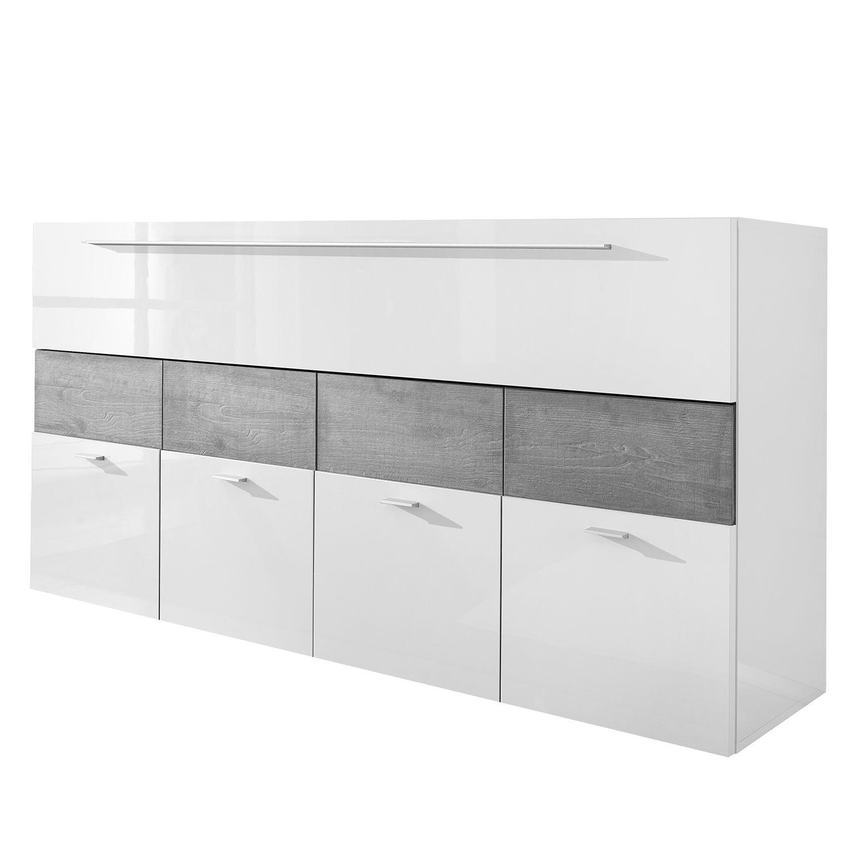 sideboard line lc - hochglanz weiß / eiche grau dekor, lc mobili ... - Einrichtung Viktorianischen Stil Dekore