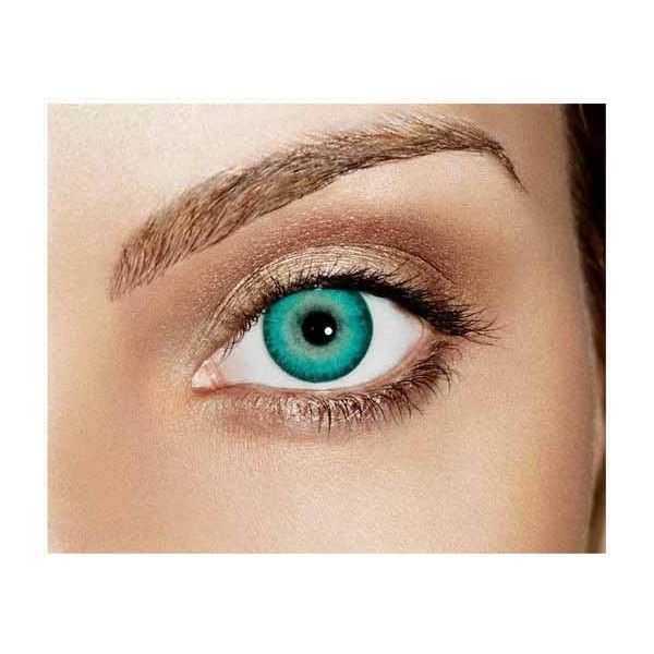 89f1c75ceb Caribbean Aqua Non Prescription Colored Contacts Freshlook Dimensions ❤  liked on Polyvore featuring beauty products