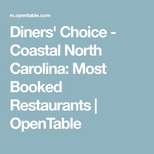 Diners' Choice Coastal North Carolina Most Booked