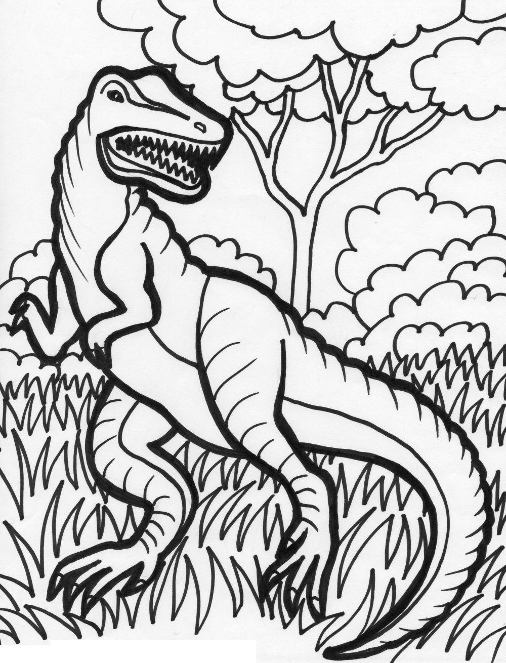 Dinosaur colouring book | http://www.rvspug.org | Pinterest