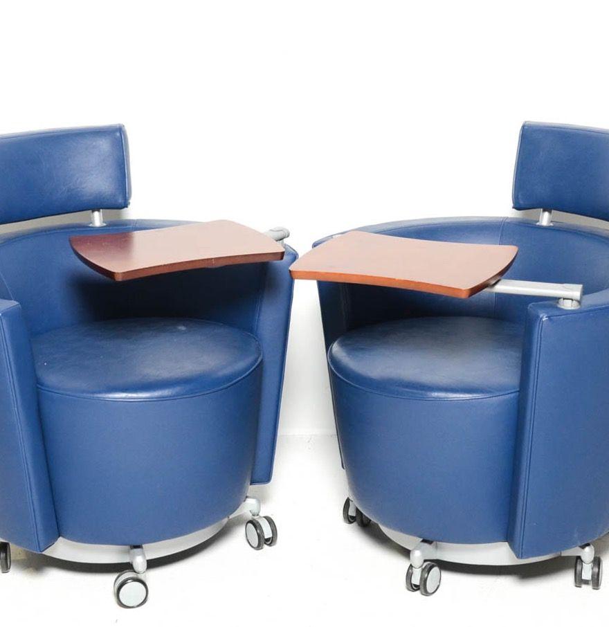 Fun Lounge Chairs pair of haworth hello lounge chairs | wood tray, chairs and fun