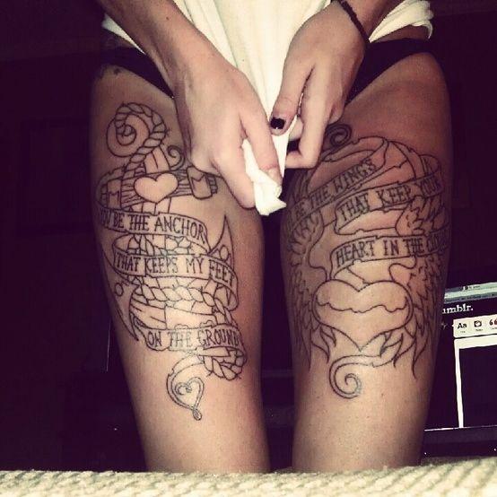 Tatouage Phrase Et Motif Cuisse Tattoo Addict Pinterest