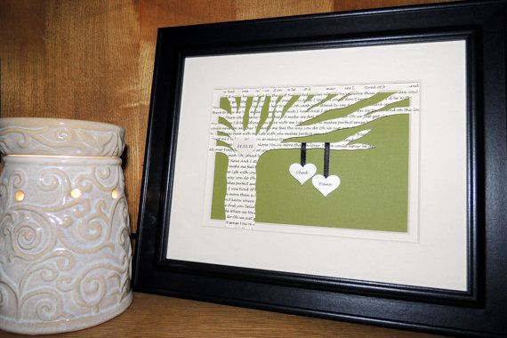 Unique And Personalized First Wedding Anniversary Gift