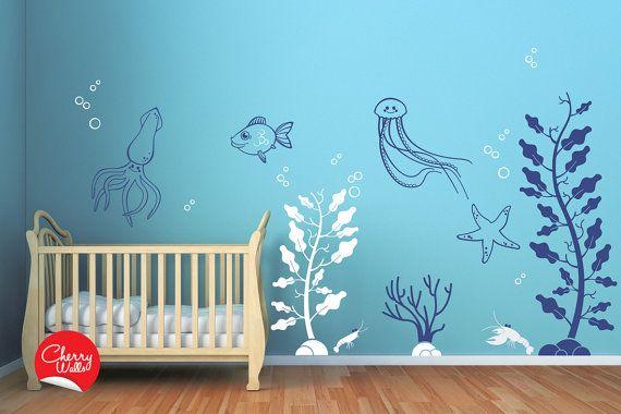 Deep Sea Wall Decals For Baby Nursery Underwater Themed Nursery