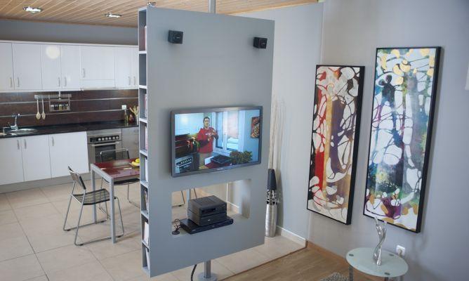 Crear mueble multimedia giratorio tvs tv stands and tv - Como hacer un mueble para tv ...