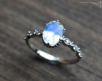 vintage moonstone floral engagement ring in by michelliadesigns - Moonstone Wedding Rings
