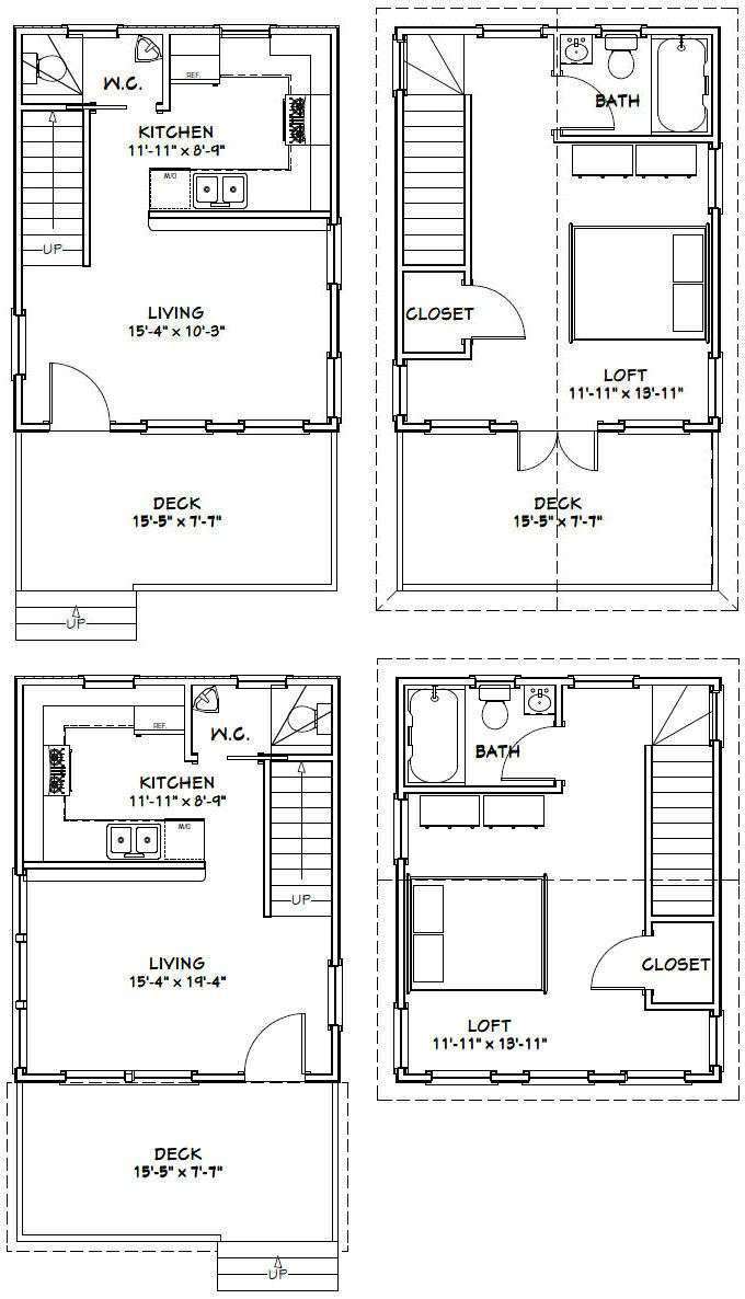 16x20 Houses Pdf Floor Plans 569 Sq Ft By Excellentfloorplans House Plan With Loft Modern House Floor Plans Tiny House Floor Plans