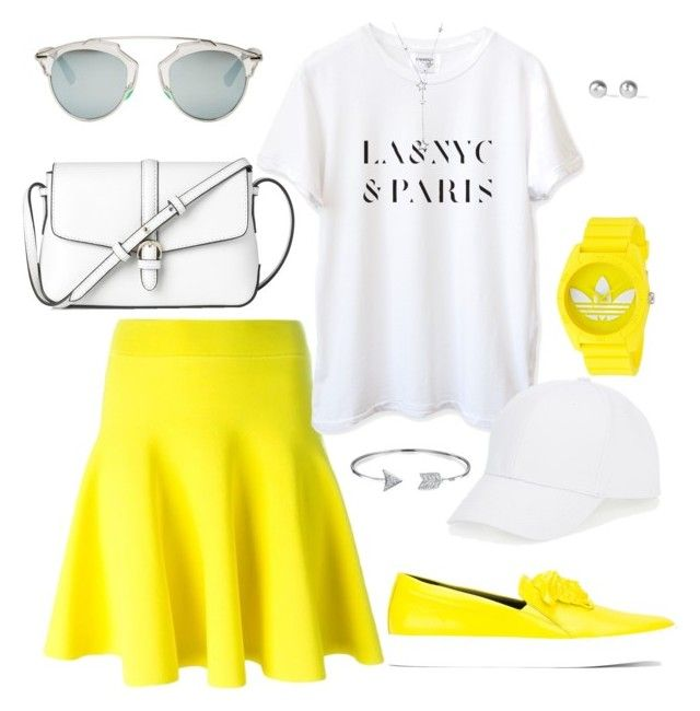 """""""What do I do now everything has fallen apart"""" by falonstarrider on Polyvore featuring L.K.Bennett, Versace, Christian Dior, Talbots, adidas, Bling Jewelry, Snö Of Sweden, outfit, ootd and LOTD"""
