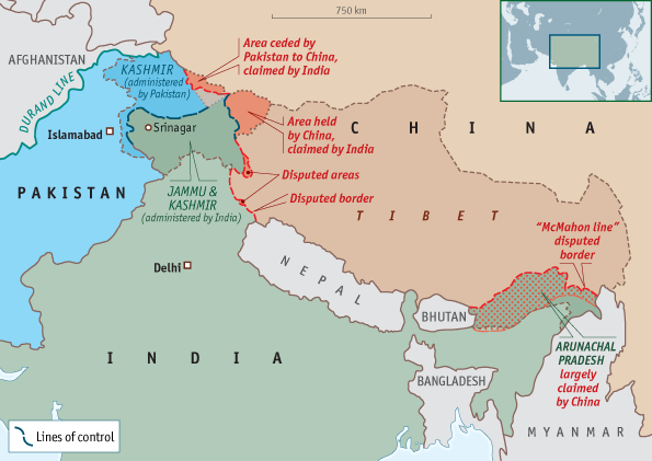 Indian Pakistani And Chinese Border Disputes Fantasy Frontiers
