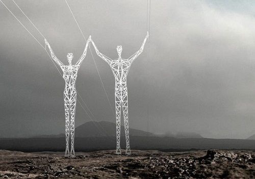 Iceland Electrical Towers Get Turned Into 'Giants'