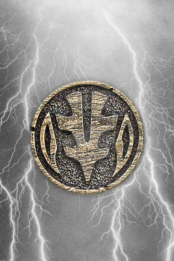 MMPR White Ranger Tigerzord Coin iPhone Wallpaper by