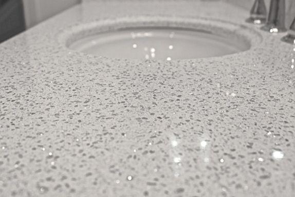 Beautiful vanity countertops. Cambria Quartz Stone in