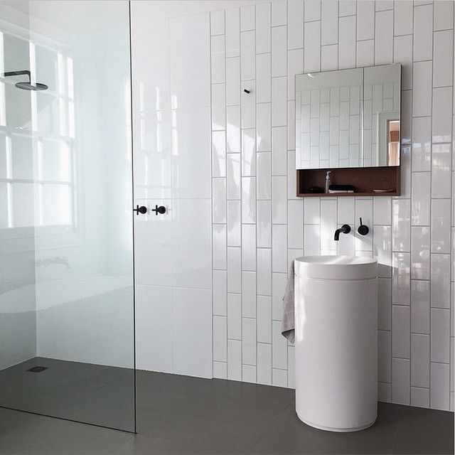 Amazing Beautiful Bathroom By @kara_town Featuring The Omvivo Mono Basin And  Pedestal. A Beautiful Space