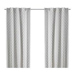 Gardinenband Ikea henny rand curtains 1 pair white brown gray living rooms room