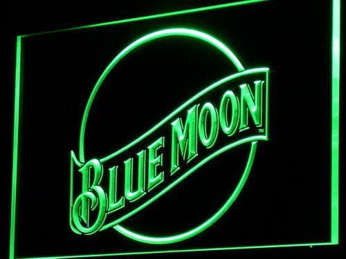 Blue Moon LED Neon Sign