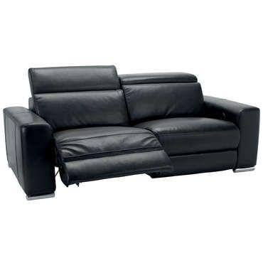 Canapé Relaxation Places STAN Coloris Noir CONFORAMA Comparateur - Canapé relaxation cuir