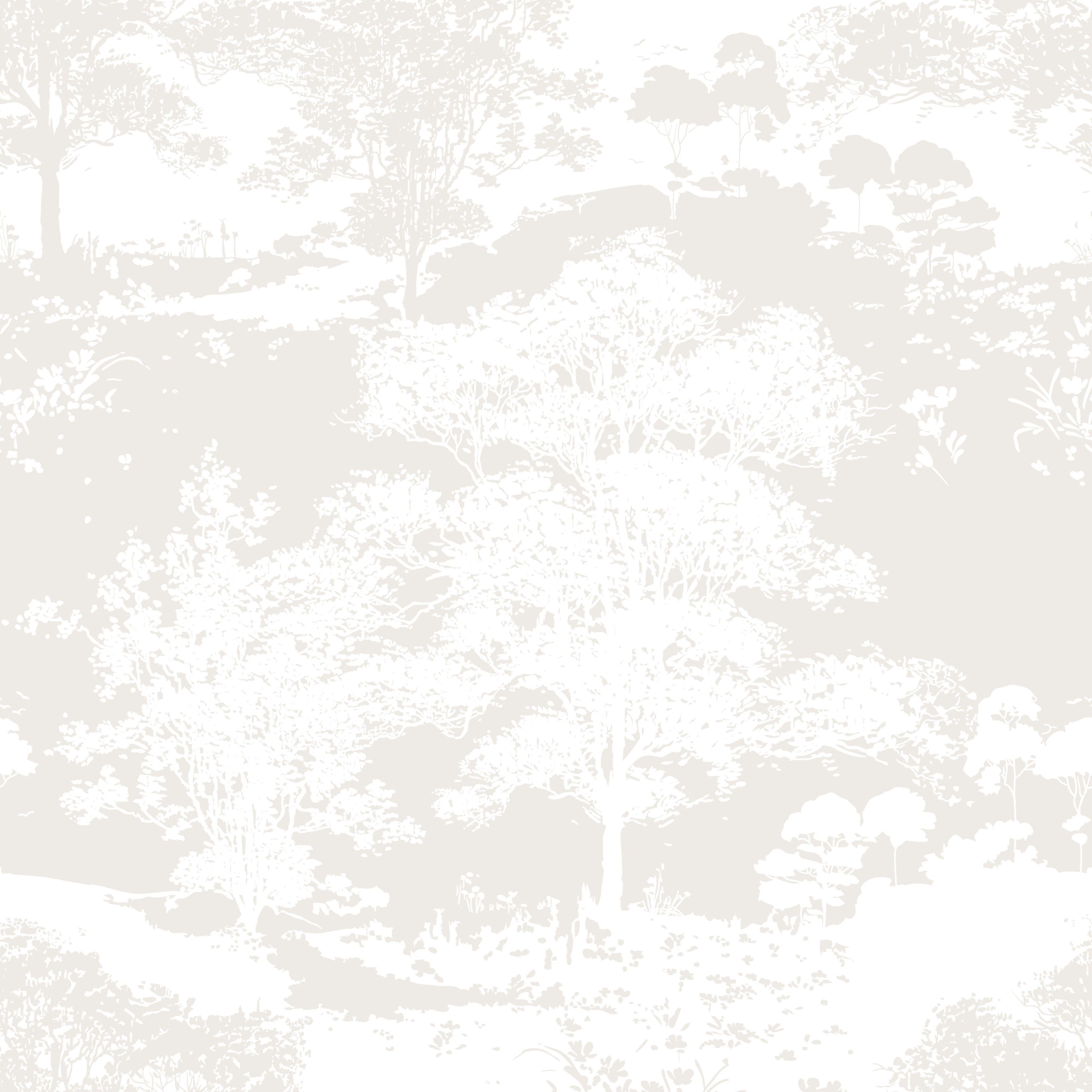 Colours foresta cream wallpaper departments diy at b q for Cream wallpaper for walls