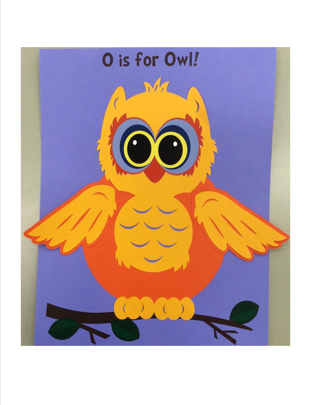 O is for Owl Alphabet crafts, Crafts, Owl