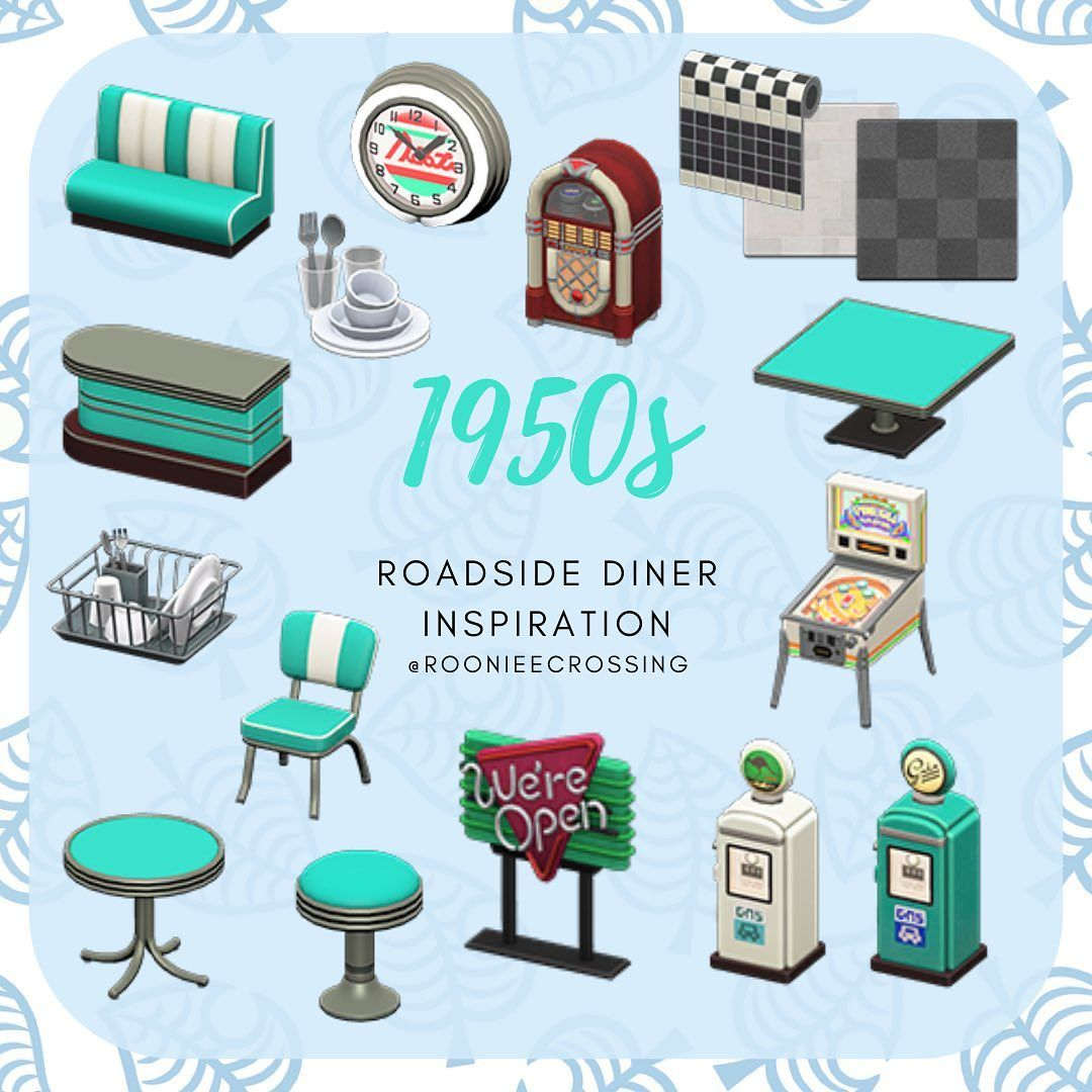 A 50s Diner Back When I Was Growing Up There Used To Be A Small Diner In My Home Town With Turquoi In 2020 Animal Crossing Animal Crossing Game New Animal Crossing