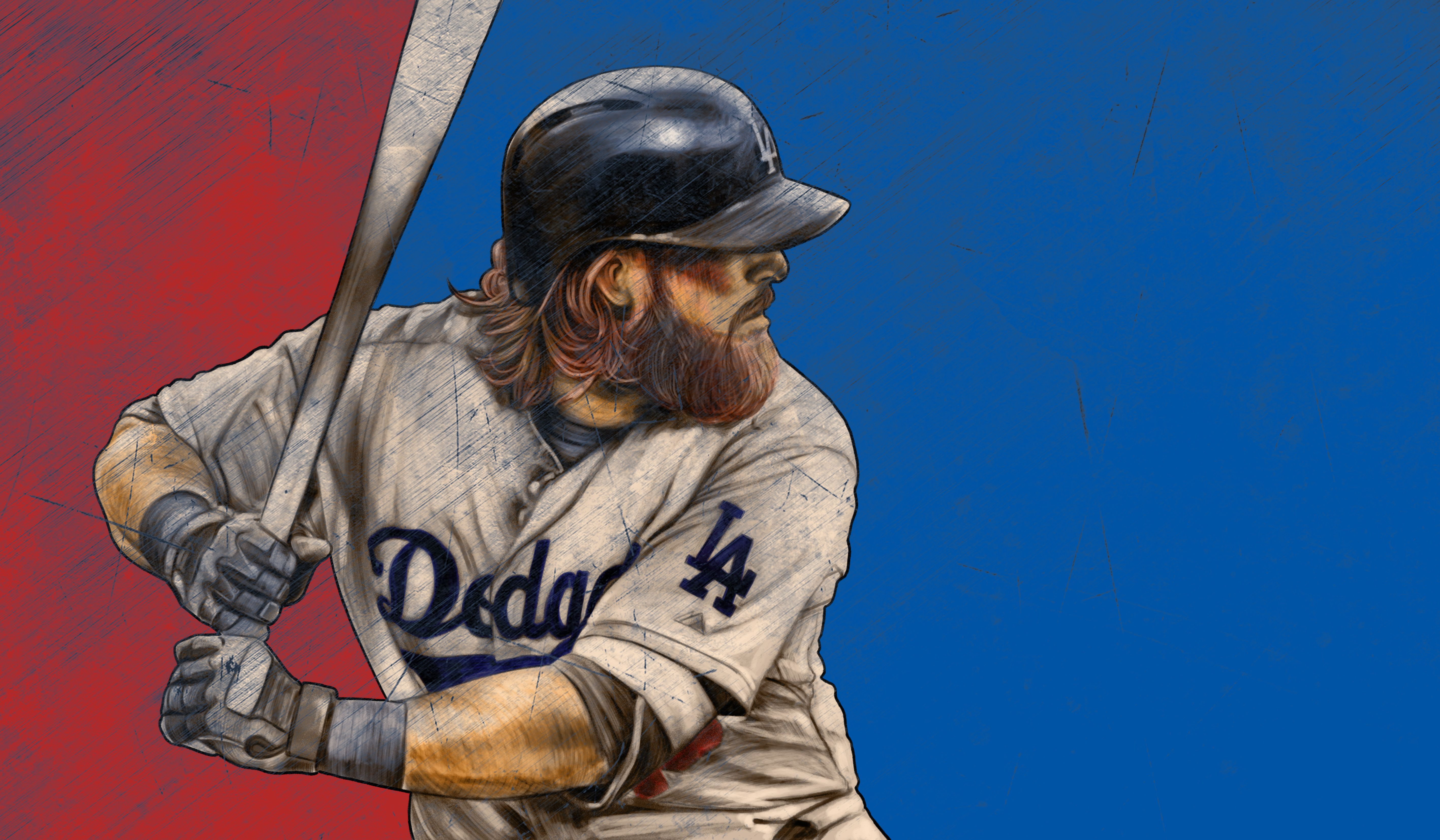 the new meaning of fear the beard! go dodgers! bleed blue