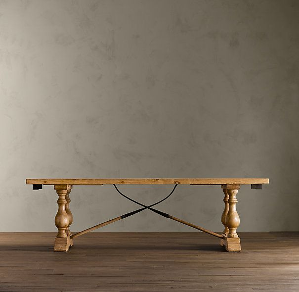 Vintage Farm Tool Rectangular Dining Table from Restoration Hardware