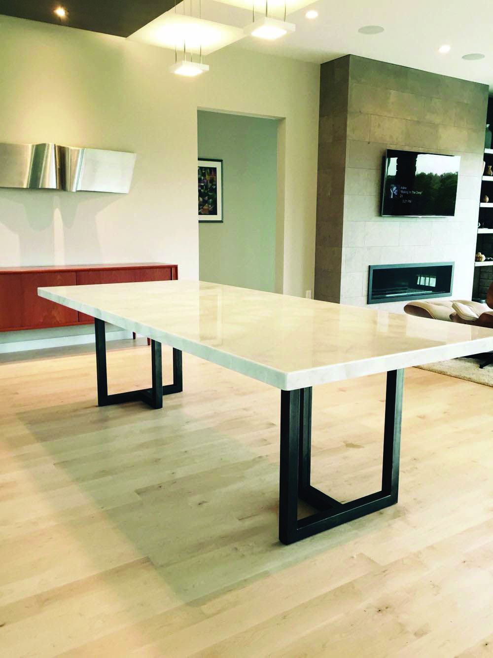 15 Stunning Granite Top Dining Room Tables Mit Bildern Marmor