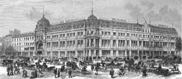 bon march paris department stores and shops pinterest. Black Bedroom Furniture Sets. Home Design Ideas