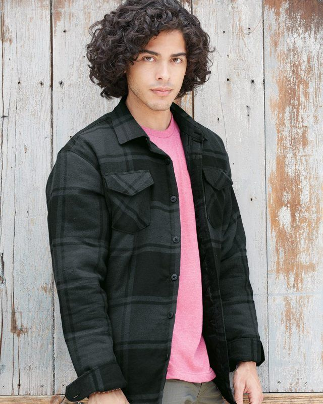 Burnside Quilted Flannel Jacket 8610 Flannel Jacket Jackets Burnside