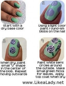 How To Do Nail Designs Floral Trins Awsome Pinterest Nail