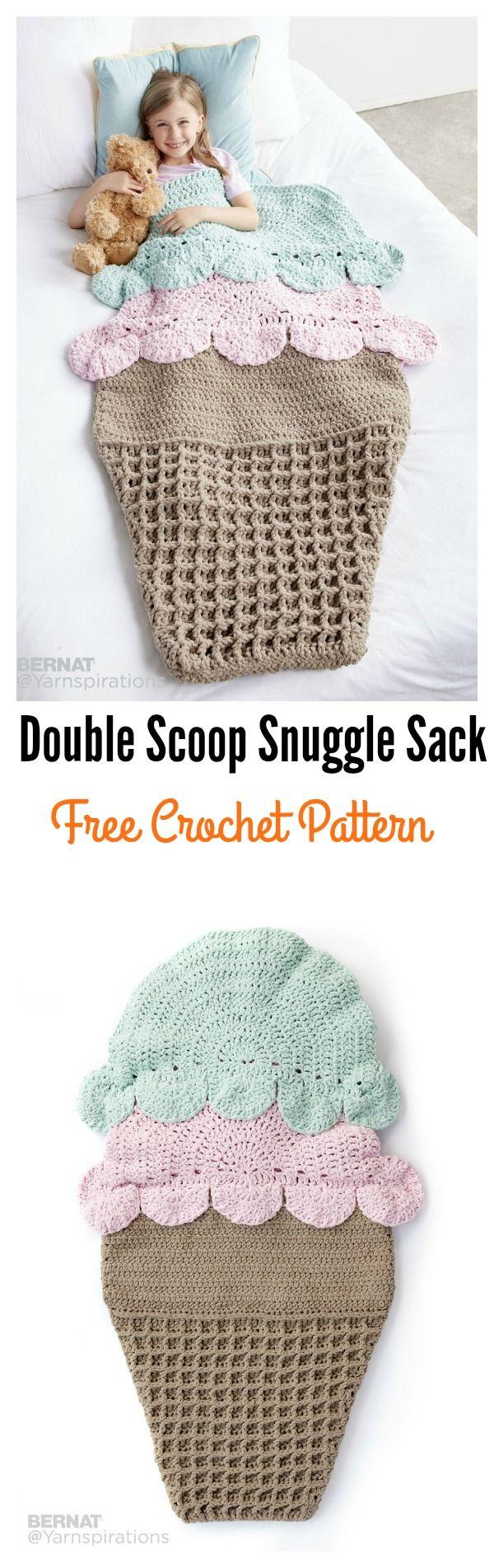 Crochet Double Scoop Snuggle Sack Free Pattern | Häkeln, Decken und ...