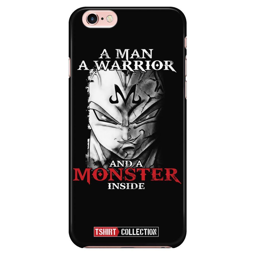 Super Saiyan Majin Vegeta Monster Inside iPhone 5, 5s, 6, 6s, 6 plus, 6s plus phone case - TL00281PC-BLACK