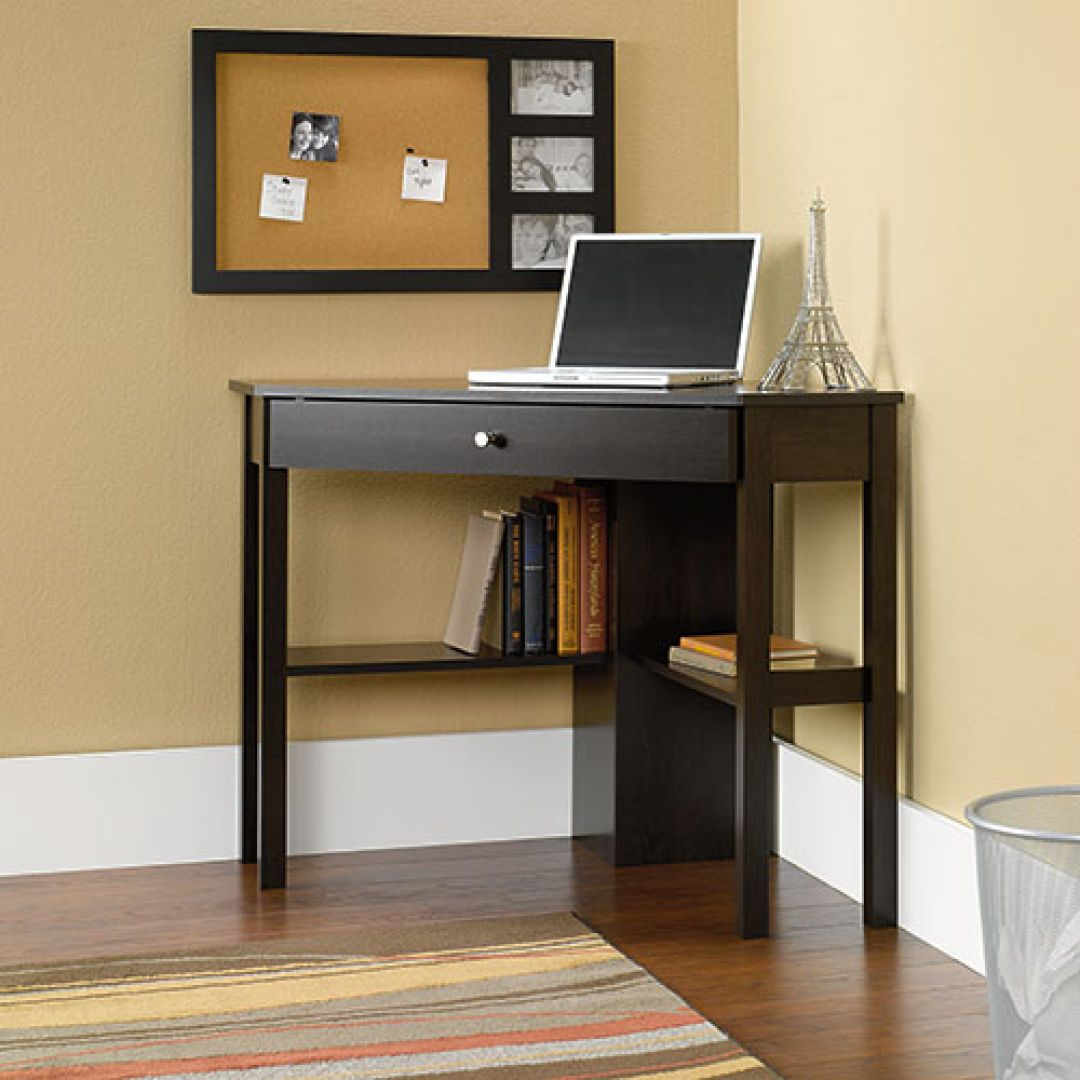 Sauder beginnings corner computer desk cherry desks cherries sauder beginnings corner computer desk cherry boscovs watchthetrailerfo
