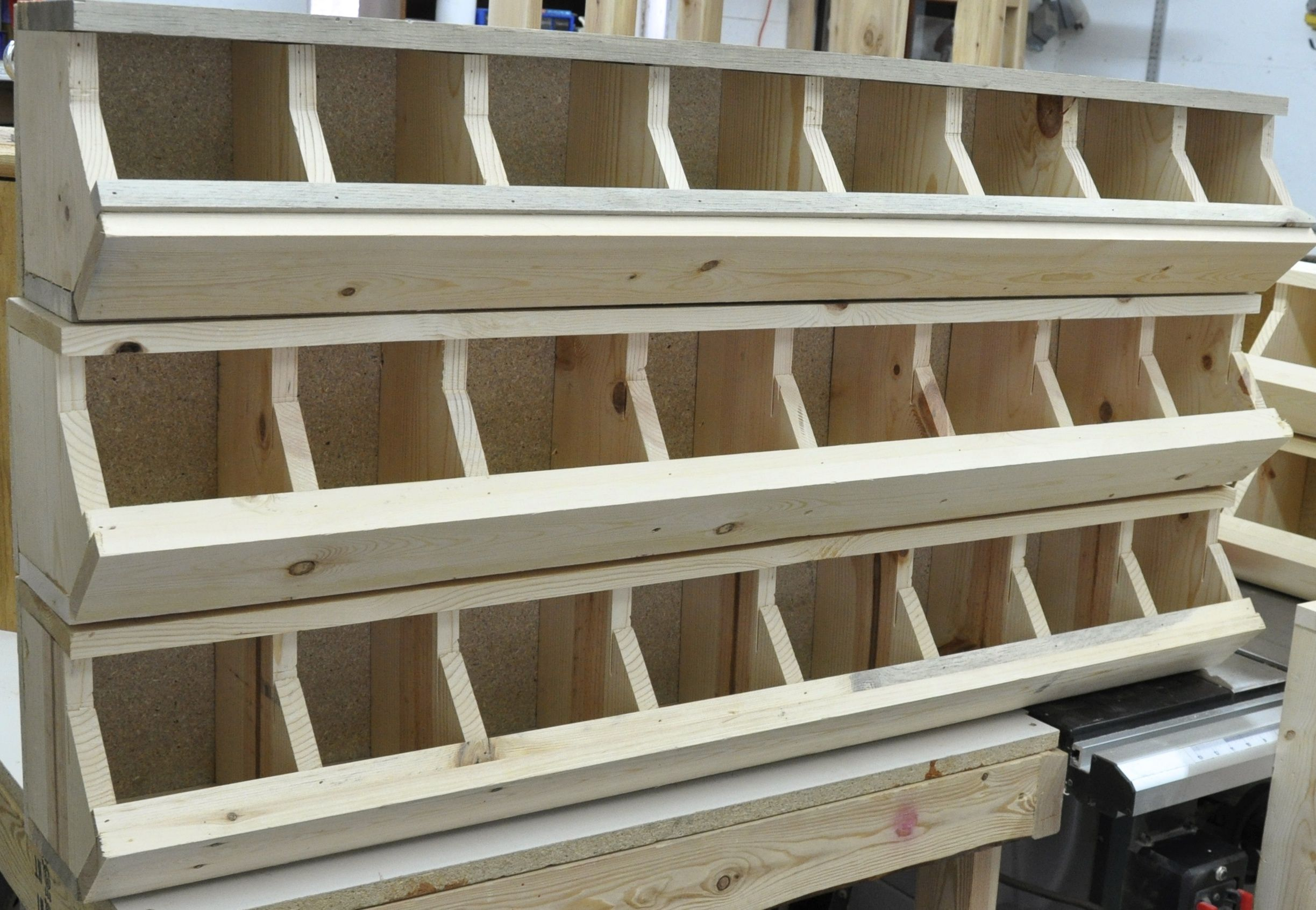 these bolt bins are reproduced from a 1912 copy | work shop