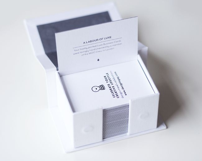 Featured Product Moo Luxe Business Card Design Is Yay Blog