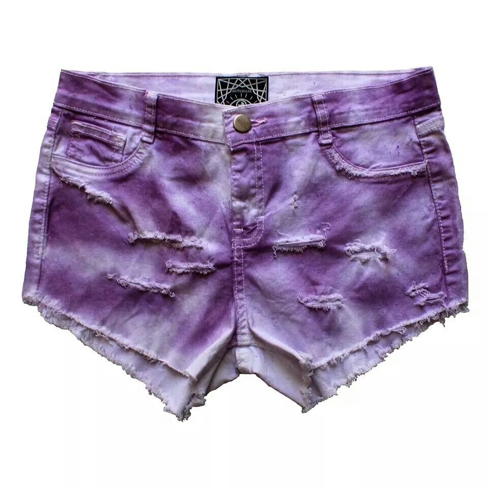 Purple washed out shorts